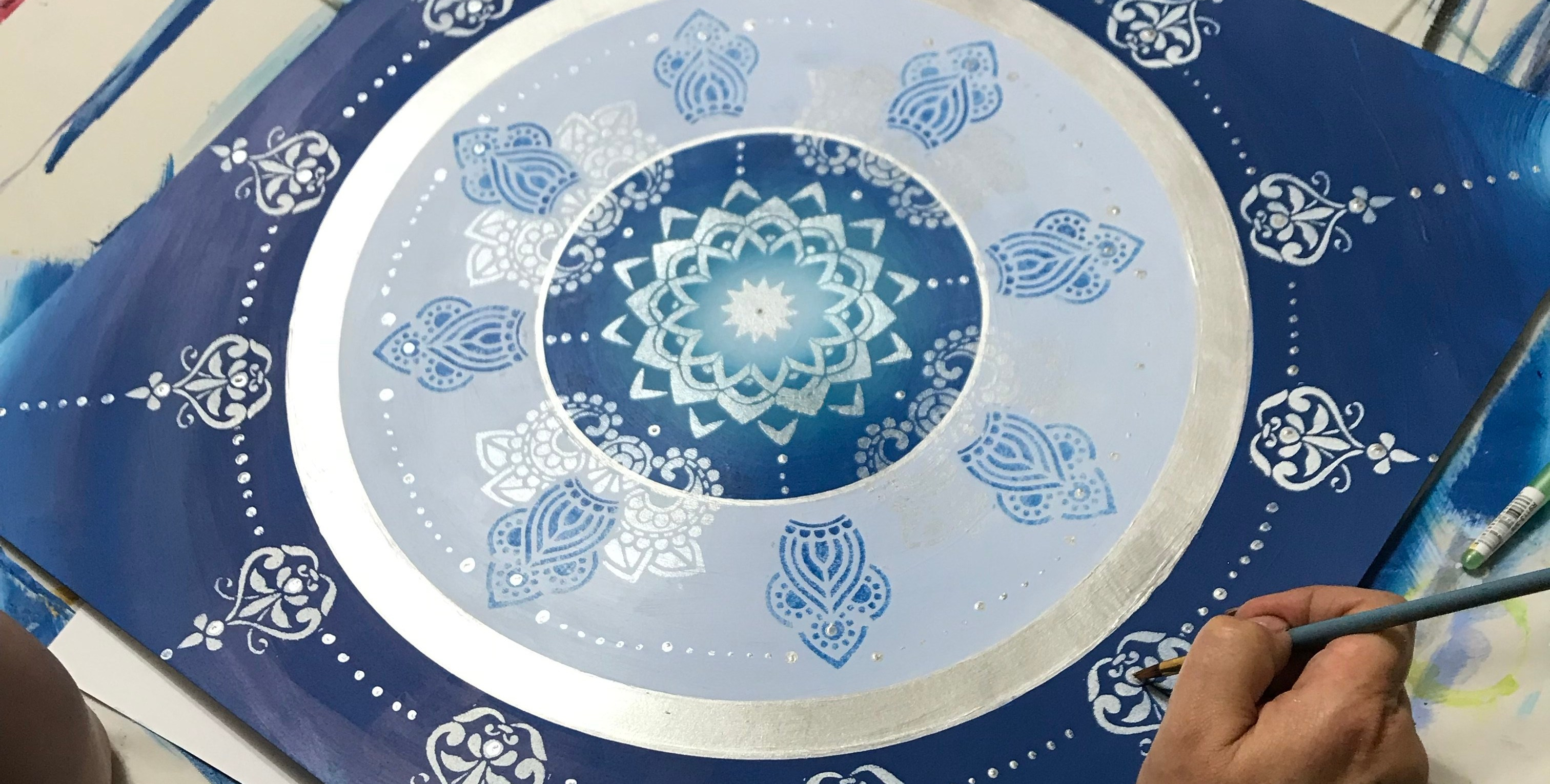 Embarked Large Mandala Painting Workshop